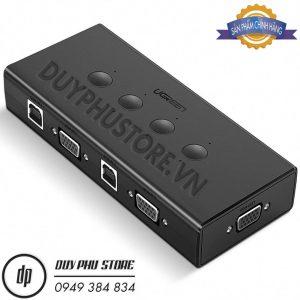 KVM Switch – Bộ Kết Nối 4 CPU Dùng Chung 1 Màn Hình VGA và 3 Cổng USB Cao Cấp Ugreen 50280