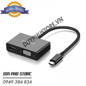 Cáp Chuyển USB Type C To HDMI và VGA Cao Cấp Ugreen 50509