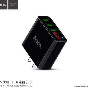 CÓC SẠC 3 CỔNG USB 3.0 HOCO C15 – MÀN HÌNH LED