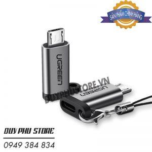 Đầu Chuyển Micro USB to USB-C Cao Cấp Ugreen 50590