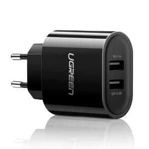 Củ sạc di động 2 cổng USB (17W/5V 3.4A) Ugreen UG20383