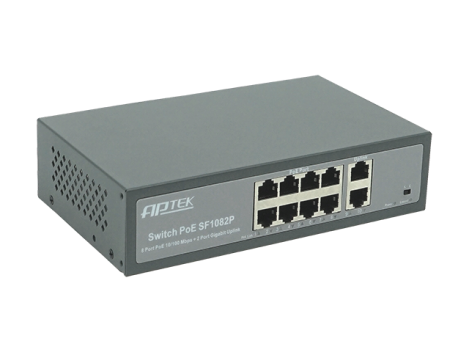 SWITCH 8 PORT PoE – APTEK SF1082P)