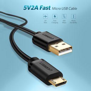 Cáp sạc micro USB mạ vàng dài 1m chính hãng Ugreen 10836