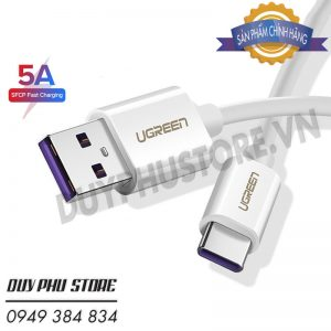 Cáp USB Type C 5A Super Charger Dài 2M Ugreen 40889