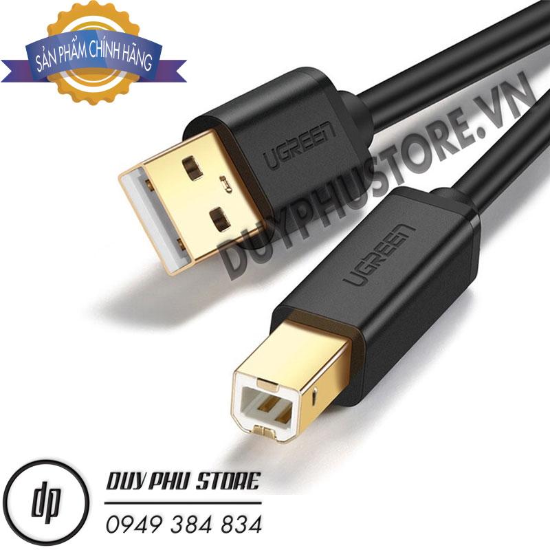 Cáp máy in USB 2.0 Ugreen 10350 cao cấp dài 1.5M)